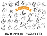 set of decoration ampersands... | Shutterstock .eps vector #781696645