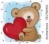 valentine card with a cute... | Shutterstock .eps vector #781700401