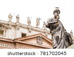 sculptures of st. peter's...   Shutterstock . vector #781702045