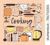hand drawn illustration cooking ... | Shutterstock .eps vector #781710301