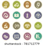 alternative energy icons set... | Shutterstock .eps vector #781712779