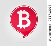 bitcoin red logo with soft... | Shutterstock .eps vector #781713019