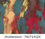 oil painting on canvas handmade.... | Shutterstock . vector #781713124