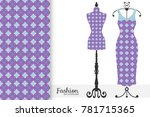 fashion art collection  vector... | Shutterstock .eps vector #781715365