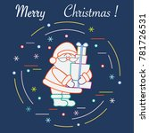 santa claus with presents. new... | Shutterstock .eps vector #781726531