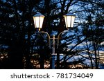 twilight sky with two... | Shutterstock . vector #781734049