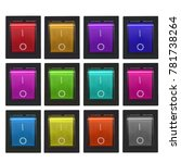 electric switch white background   Shutterstock . vector #781738264