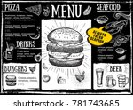 restaurant cafe menu  template... | Shutterstock .eps vector #781743685