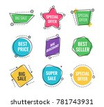 collection of sale discount... | Shutterstock .eps vector #781743931