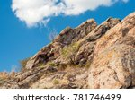 granite rocks covered with... | Shutterstock . vector #781746499