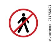 pedestrian do not enter | Shutterstock .eps vector #781752871