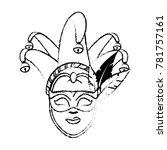 isolated mask design | Shutterstock .eps vector #781757161