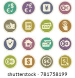 currency exchange vector icons... | Shutterstock .eps vector #781758199