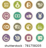 currency exchange vector icons... | Shutterstock .eps vector #781758205