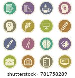 creative process vector icons... | Shutterstock .eps vector #781758289