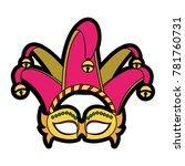 isolated mask design | Shutterstock .eps vector #781760731