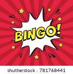 retro comic speech bubble with... | Shutterstock .eps vector #781768441