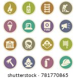 fire brigade vector icons for... | Shutterstock .eps vector #781770865