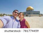 tourism in israel. happy couple ... | Shutterstock . vector #781774459