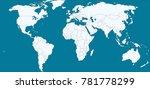 world map vector | Shutterstock .eps vector #781778299