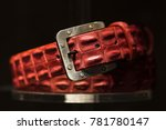 red leather belt and metallic... | Shutterstock . vector #781780147