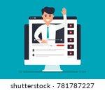 video coaching  business... | Shutterstock .eps vector #781787227