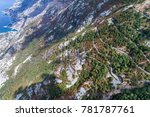 aerial view on the old road... | Shutterstock . vector #781787761