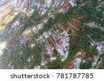 aerial view on the old road... | Shutterstock . vector #781787785