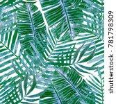 watercolor seamless pattern... | Shutterstock . vector #781798309