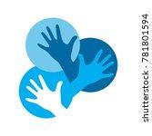 hand expression logo | Shutterstock .eps vector #781801594