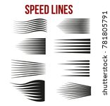speed lines black for manga and ... | Shutterstock .eps vector #781805791