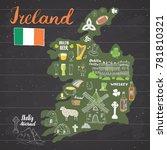 ireland sketch doodles. hand... | Shutterstock .eps vector #781810321