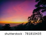 nature in twilight period ...   Shutterstock . vector #781810435