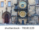 Old Astronomical Clock In Old...