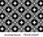 ornament with elements of black ... | Shutterstock . vector #781813369