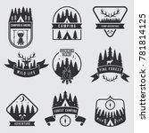 outdoor camping labels set.... | Shutterstock . vector #781814125