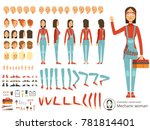 big creation kit of girl... | Shutterstock . vector #781814401