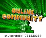 online community   comic book... | Shutterstock .eps vector #781820389