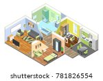 3d interior of modern house... | Shutterstock . vector #781826554