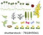 image of spring. spring... | Shutterstock .eps vector #781845061