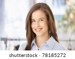 closeup facial portrait of... | Shutterstock . vector #78185272