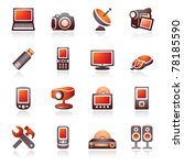 electronics icons for web.... | Shutterstock .eps vector #78185590
