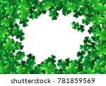 saint patricks day background... | Shutterstock .eps vector #781859569