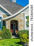 house entrance with doorway. | Shutterstock . vector #781864285