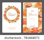 Rose Flowers In Orange Color...