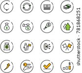 line vector icon set   cent...