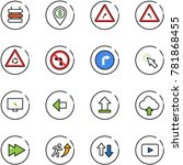 line vector icon set   sign... | Shutterstock .eps vector #781868455