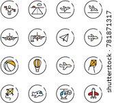 line vector icon set   traffic... | Shutterstock .eps vector #781871317