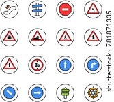 line vector icon set  ... | Shutterstock .eps vector #781871335