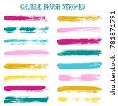 modern watercolor daubs set ... | Shutterstock .eps vector #781871791